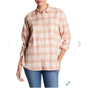 Madewell Plaid Oversized Ex-Boyfriend Shirt-XL